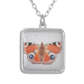 Peacock Butterfly 2012 Square Pendant Necklace