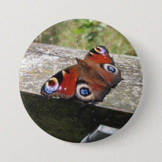 Peacock Butterfly 7.5 Cm Round Badge