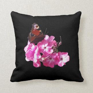 peacock butterfly American Mojo throw pillow Throw Pillows