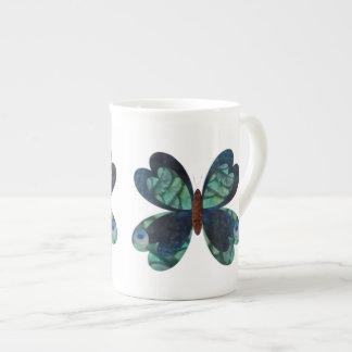 Peacock Butterfly Bone China Mugs