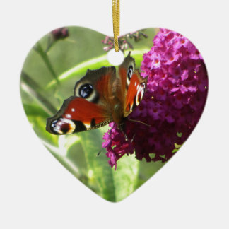 Peacock Butterfly Christmas Ornament