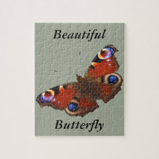 Peacock Butterfly design Jigsaw Puzzles