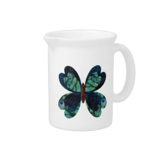 Peacock Butterfly Drink Pitcher