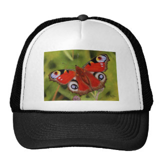 PEACOCK BUTTERFLY TRUCKER HATS