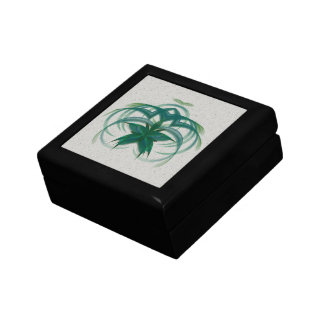Peacock Butterfly in Flight Abstract Art Small Square Gift Box