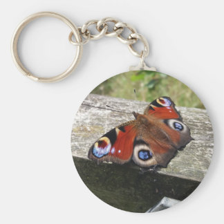 Peacock Butterfly Keychain