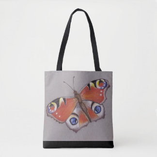 Peacock Butterfly Large Print Bag