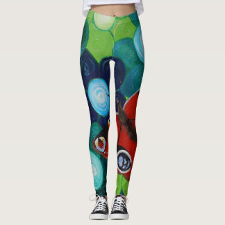 Peacock Butterfly Leggings