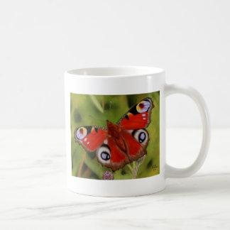 PEACOCK BUTTERFLY COFFEE MUGS