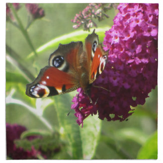 Peacock Butterfly Napkin