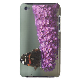 Peacock butterfly on flower iPod touch cases