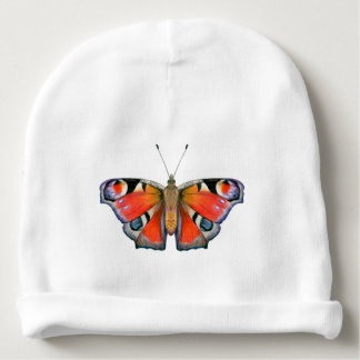 Peacock Butterfly Painting Watercolour Baby Beanie