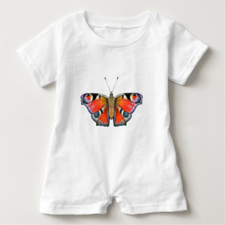 Peacock Butterfly Painting Watercolour Baby Bodysuit