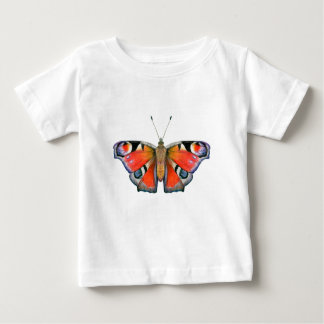 Peacock Butterfly Painting Watercolour Baby T-Shirt