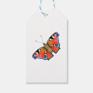 Peacock Butterfly Painting Watercolour Gift Tags