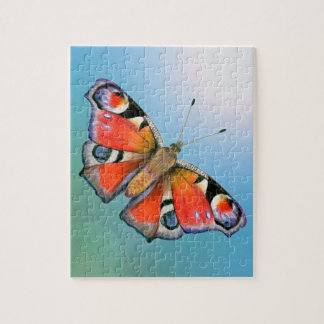 Peacock Butterfly Painting Watercolour Jigsaw Puzzle