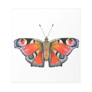Peacock Butterfly Painting Watercolour Notepad