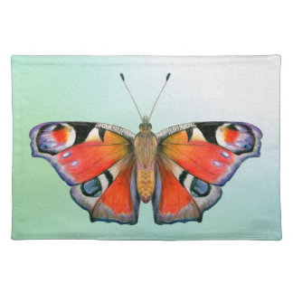Peacock Butterfly Painting Watercolour Placemat