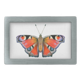 Peacock Butterfly Painting Watercolour Rectangular Belt Buckle