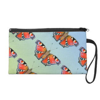 Peacock Butterfly Painting Watercolour Wristlet