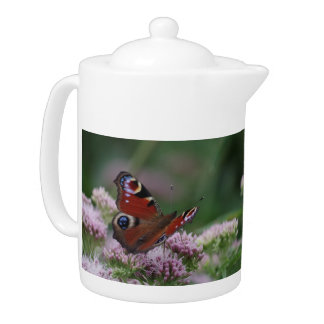 Peacock Butterfly Teapot