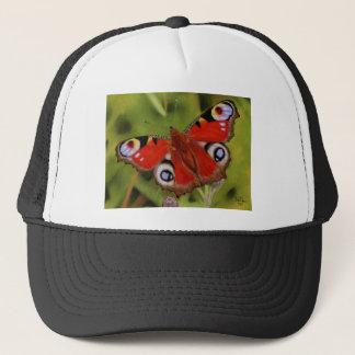 PEACOCK BUTTERFLY TRUCKER HAT