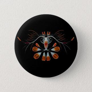 Peacock Calanid 6 Cm Round Badge