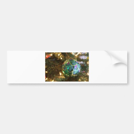 Peacock Christmas Bumper Sticker