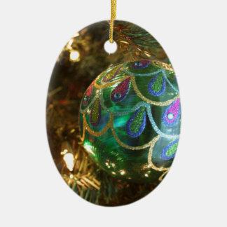 Peacock Christmas Christmas Ornament