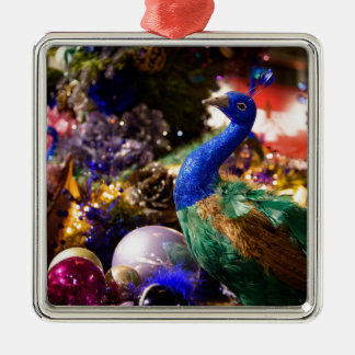 Peacock Christmas Design Christmas Ornament