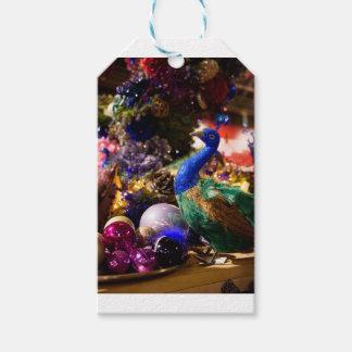 Peacock Christmas Design Gift Tags