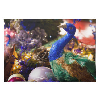 Peacock Christmas Design Placemat