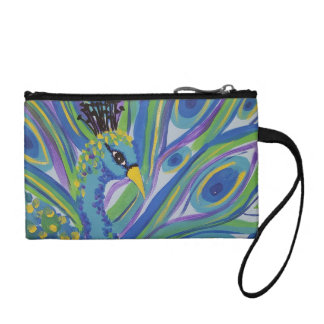 Peacock Coin Clutch