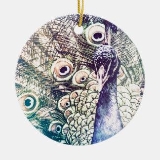 peacock, color, oil painting, australia christmas ornament