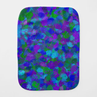 Peacock Color Splashes 4755 Burp Cloth