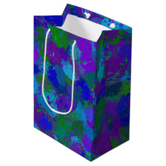 Peacock Color Splashes 4755 Medium Gift Bag