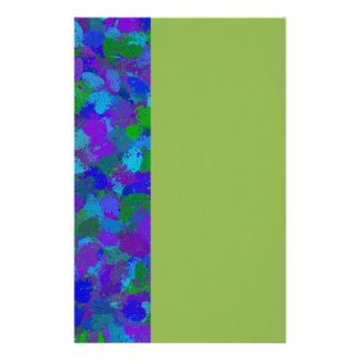 Peacock Color Splatters 4755 Customized Stationery