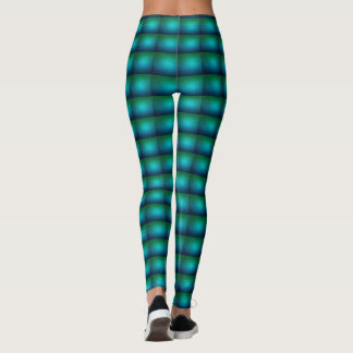 Peacock color squire pattern Leggings