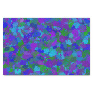 Peacock colors splatters 4755 tissue paper
