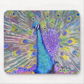 Peacock Dance Purple and Blue Mousepad
