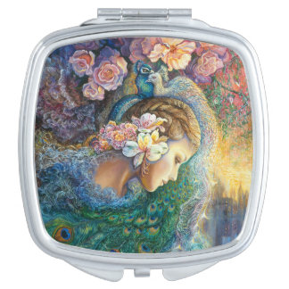 Peacock Daze compact mirror