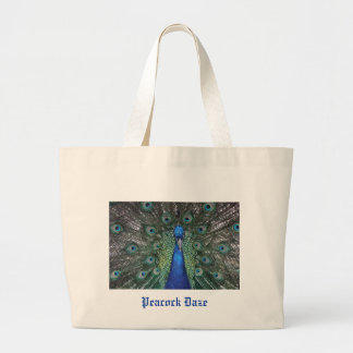 Peacock Daze. Jumbo Tote Bag