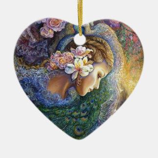 peacock dazzle.jpg ceramic heart decoration