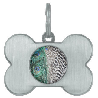 Peacock Delight Pet Name Tag