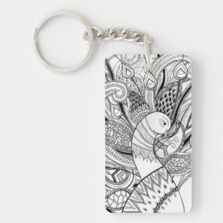 Peacock design key ring