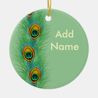 Peacock Design Personalized Gifts Christmas Ornament