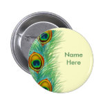 Peacock Design Personalized Gifts Pinback Buttons