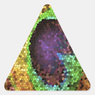 Peacock Design Triangle Sticker