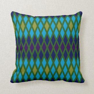 Peacock Diamond Cushion