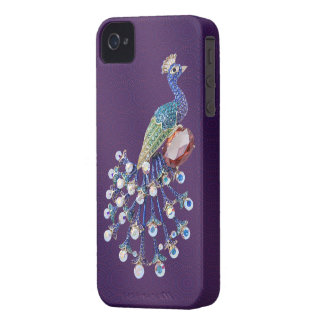 Peacock Digital Jewels Purple iPhone 4 Case